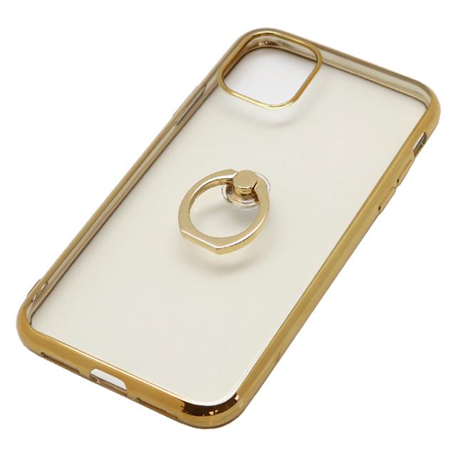 iPhone 11 用 6.1インチ ジャケット リング付き メタルフレーム